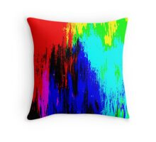 Abstract Painting Modern Original Art Acrylic Titled: Wild Colorful Mashup Throw Pillow