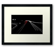 Speed of light Framed Print