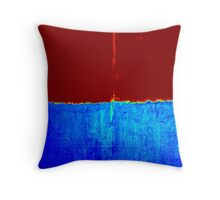 Original Abstract Modern Art Acrylic Titled: Two Sides Throw Pillow