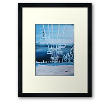 Big White Framed Print