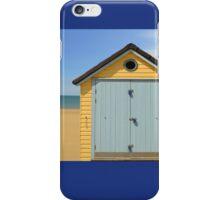 the little blue beach hut  iPhone Case/Skin