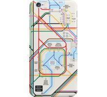 Walt Disney World Transportation as a Subway Map iPhone Case/Skin
