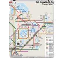 Walt Disney World Transportation as a Subway Map iPad Case/Skin