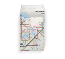 Walt Disney World Transportation as a Subway Map Duvet Cover