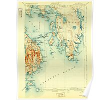 Maine USGS Historical Map Bar Harbor 807359 1904 62500 Poster
