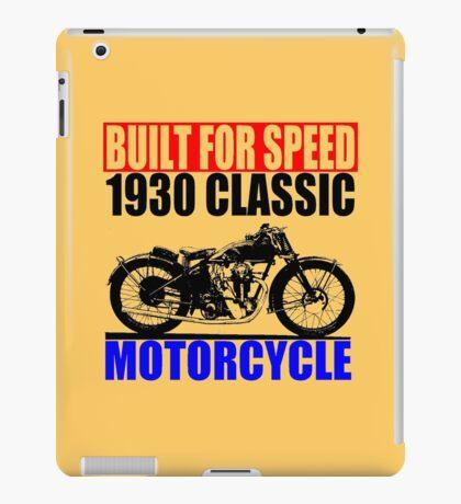 1930 MOTORCYCLE iPad Case/Skin
