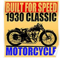 1930 MOTORCYCLE Poster