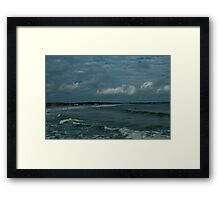 Narragansett Beach after the Storm Framed Print