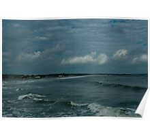 Narragansett Beach after the Storm Poster