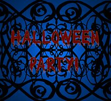 Goth Halloween Party Invitation by Cherie Balowski
