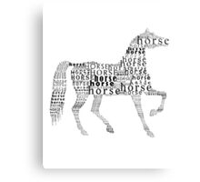 Horse typography Canvas Print