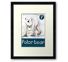 P is for Polar bear Framed Print
