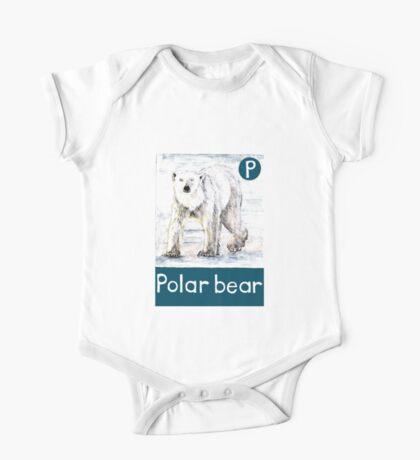 P is for Polar bear One Piece - Short Sleeve