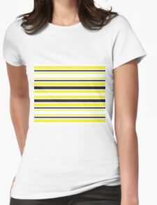 Bumble Bee Stripes Womens Fitted T-Shirt