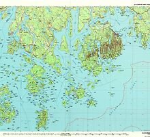 Maine USGS Historical Map Bar Harbor 807772 1985 100000 by wetdryvac