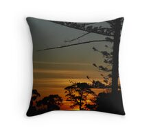 Werribee sunset Throw Pillow