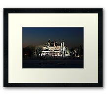 FROZEN BOLDT CASTLE Framed Print