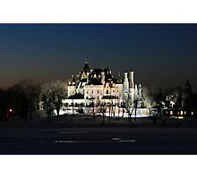 FROZEN BOLDT CASTLE Photographic Print