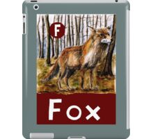 F is for Fox iPad Case/Skin