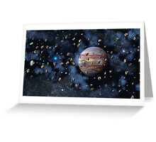 The Asteroid Belt Greeting Card
