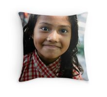 Children of Nepal smile Throw Pillow
