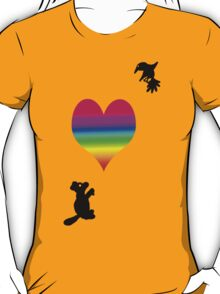 Squirrel and Hummingbird Affection T-Shirt