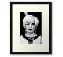 Michaela X - BW Framed Print