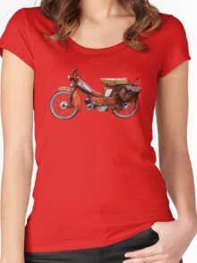 Vintage French Motobecane Moped Women's Fitted Scoop T-Shirt