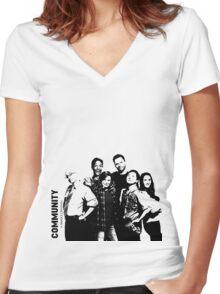Community season 6 Women's Fitted V-Neck T-Shirt