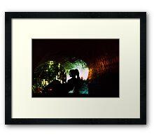 Cracked Tunnel Framed Print
