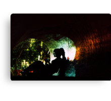 Cracked Tunnel Canvas Print