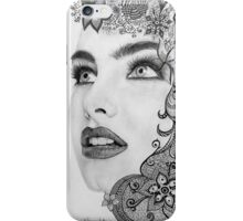 Woman in graphite pencil iPhone Case/Skin