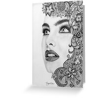Woman in graphite pencil Greeting Card