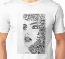 Woman in graphite pencil Unisex T-Shirt