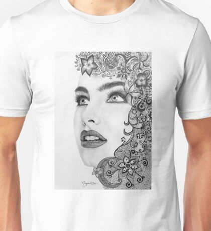 Woman in graphite pencil Unisex T-Shirt