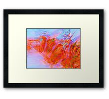 Mountain Fire-Available As Art Prints-Mugs,Cases,Duvets,T Shirts,Stickers,etc Framed Print