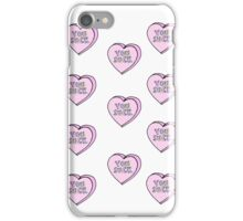 """You Suck"" Candy Hearts Phone Case iPhone Case/Skin"