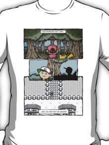 your adventure pokemon can't start T-Shirt