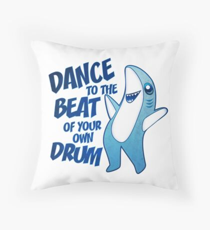 Dance to the Beat of your own Drum Throw Pillow