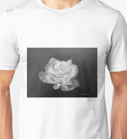 Rose in Graphite Pencil Unisex T-Shirt