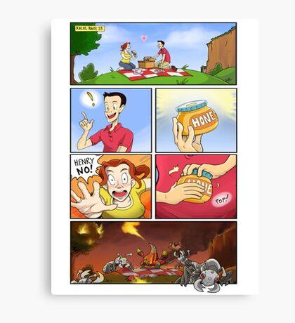 honey on pokemon funny Canvas Print