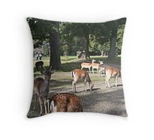 Just a fraction of the herd Throw Pillow