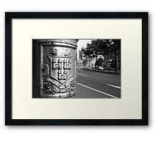 Dublin Lamppost Framed Print