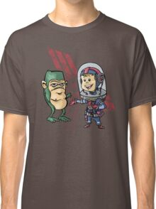 SpaceKid and Shortstack Scroggins of Planet Miniscule 4 Classic T-Shirt