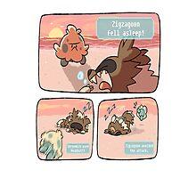 pokemon funny scene Photographic Print