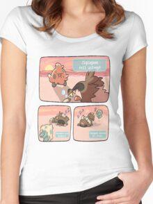 pokemon funny scene Women's Fitted Scoop T-Shirt