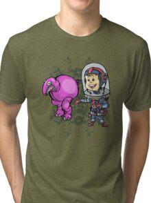 SpaceKid and a Roundbodied Grazealump Tri-blend T-Shirt