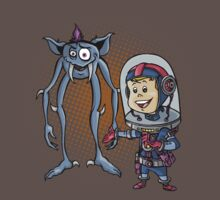 "SpaceKid and Comedian Stanley ""Leggytooth"" Bluetowski by Steven Novak"