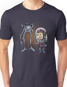 "SpaceKid and Comedian Stanley ""Leggytooth"" Bluetowski Unisex T-Shirt"
