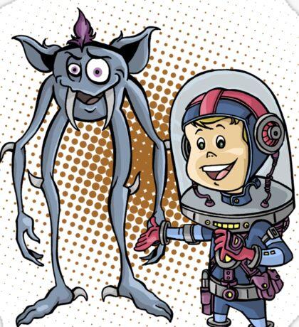 """SpaceKid and Comedian Stanley """"Leggytooth"""" Bluetowski Sticker"""